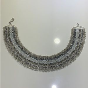 Panacea Metallic Beaded Collar Sparkle Necklace